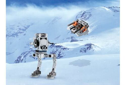 lego STAR WARS 4486 AT ST mech /& Snowspeeder mini build micro great gift NEW @