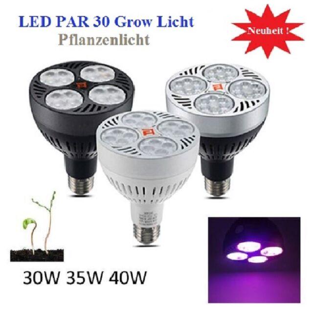 40 watt Grow LED Pflanzen Lampe Licht 4 Band Full Spektrum 40w E27 ...