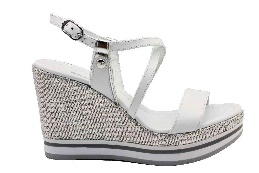 black giardini p908331d white wedge sandals footwear women