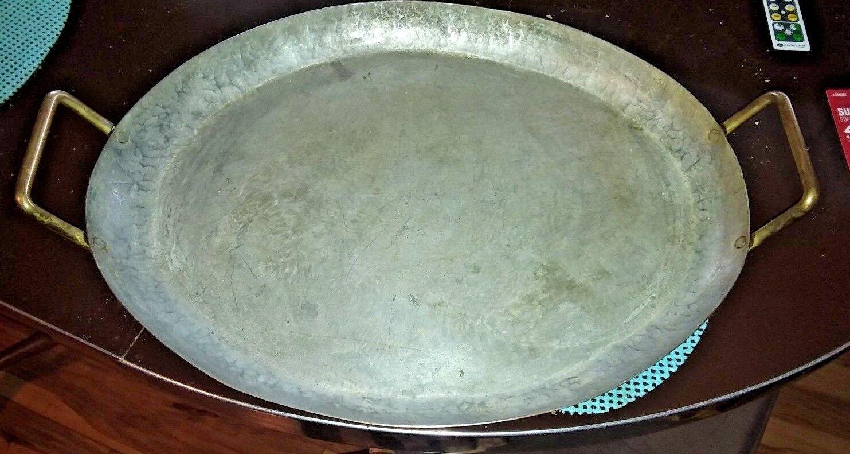 Precioso Grande De Cobre asar Servir Pan-Martillado PLATO 20  X 14