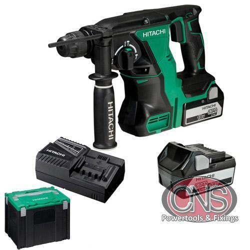2ffdd21b366 Hitachi DH18DBLJP 2 X 5ah 18v Cordless SDS-Plus Hammer Drill