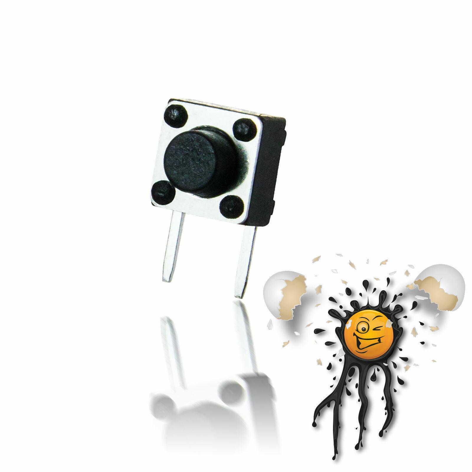 5 Druckschalter Schalter rastend 2-polig