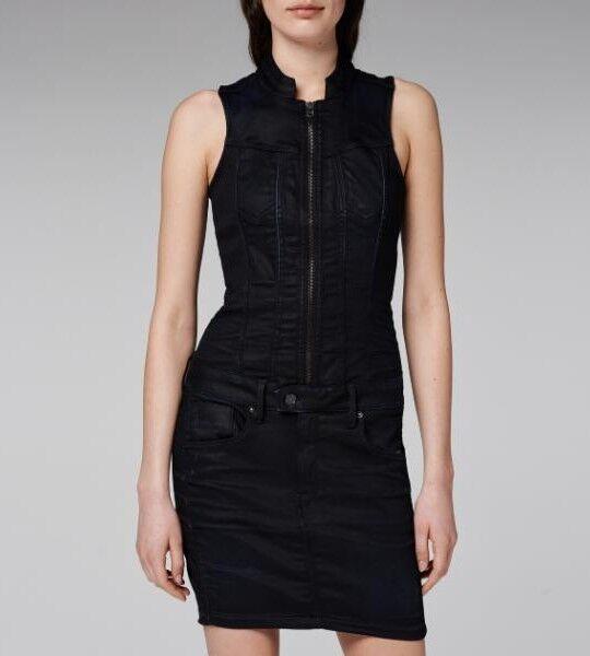 b7bc3e3c78af27 G STAR S RILEY DUMONT SCHWARZ BLAU jeans stretch sexy 36 dark aged Kleid  DRESS nuhhtm8985-Kleider