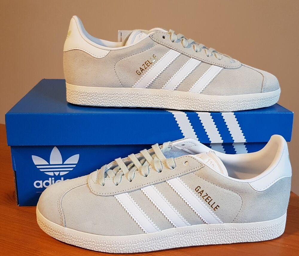 Adidas Originals gazelles en Lin Vert Baskets BZ0023 uk taille 5 eur (38) Bnwt-