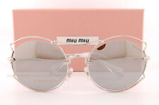 Brand New Miu Miu Sunglasses MU 50SS 1BC 2B0 Silver/Silver Mirror For Women