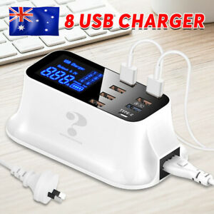 Multi Port USB Charger Mushroom Lamp Charging Station Dock for Iphone Samsung AU