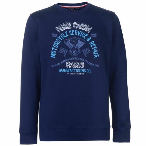 Pierre Cardin Herren Print Sweatshirt Rundhals Langarm Sweater Pullover