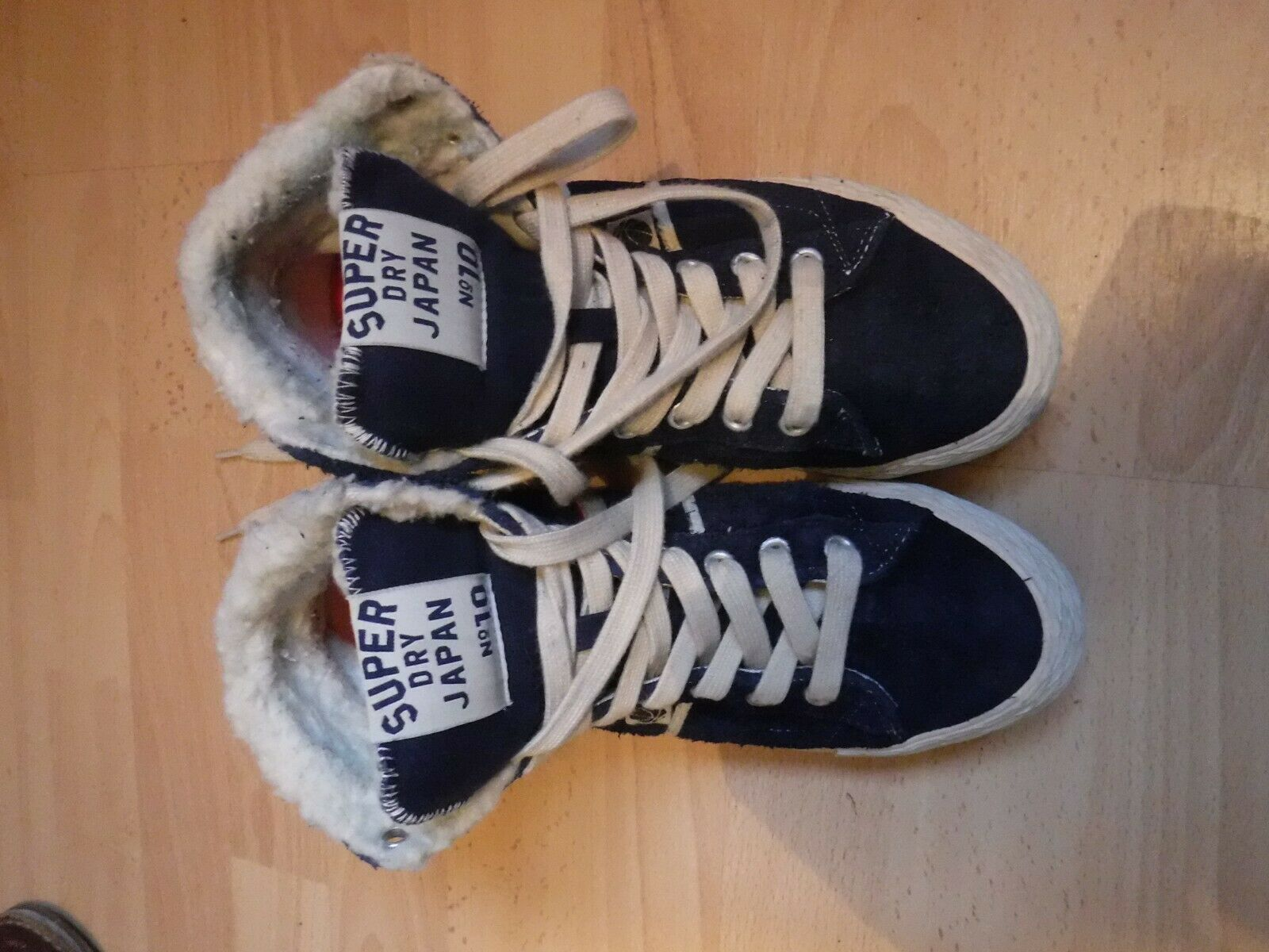 SUPERDRY SUEDE HIGHTOP TRAINERS SIZE 5