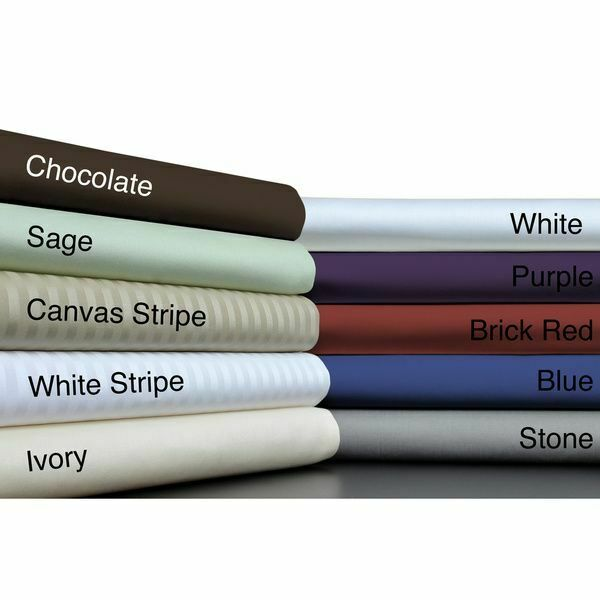 Top Class 6 PCs Sheet Set 1200TC Egyptian Cotton Solid Striped Farbes UK Emperor
