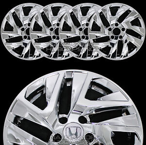 4 new 2015 2017 honda crv 17 chrome wheel skins hub caps. Black Bedroom Furniture Sets. Home Design Ideas