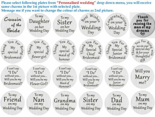 Personalised Wedding Keepsake MERCI cadeaux fleur fille mariée demoiselle d/'honneur cadeaux