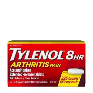 Tylenol 8 Hour Arthritis Joint Pain Acetaminophen Tablets, 225 Count+