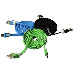 3-10Ft-Flat-Noodle-Micro-USB-Charger-Sync-Data-Cable-Cord-for-Android-Phone-LW