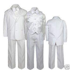 f78bba6ffbab Baby Toddler Boys Wedding Communion Baptism Formal Paisley Tuxedo ...