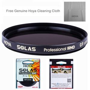 0.3 1 Stop IRND Neutral Density Filter HOYA Solas ND-2 62mm