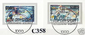 Berlin-1990-Sportmarken-Nr-864-865-mit-sauberen-Ersttags-Sonderstempeln-1A