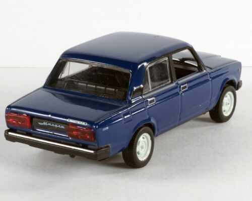 VAZ-2107 Lada Riva Russian Car AvtoVAZ Blue Color 1:43 Scale Diecast Model