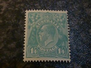 AUSTRALIA POSTAGE STAMP SG131 1/4D 1932 LIGHTLY MOUNTED MINT