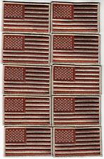 "United States FLAG Patch MIRROR IMAGE//DESERT TAN /& BROWN 2/"" X 3 3//8/"" US U.S"