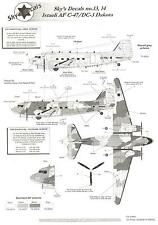 Sky's Decals 1/144 DOUGLAS C-47 DC-3 DAKOTA Israeli Air Force