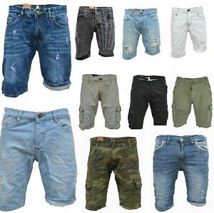 iProfash-Herren-Bermuda-Jeans-Shorts-Stretch-Denim-Kurze-Capri-Hose-Sommer