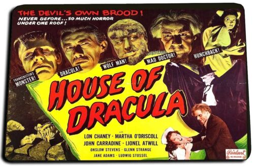 HOUSE OF DRACULA MOVIE POSTER DOOR MAT RUG CARPET MADE IN USA