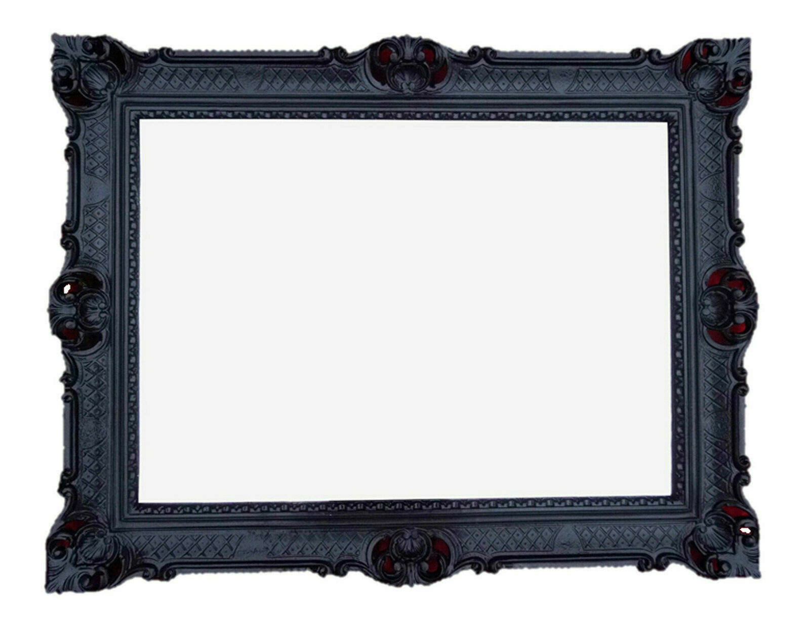 Cadre photo 90x70 Noir Antique baroque rococo cadre photo repro Déco image