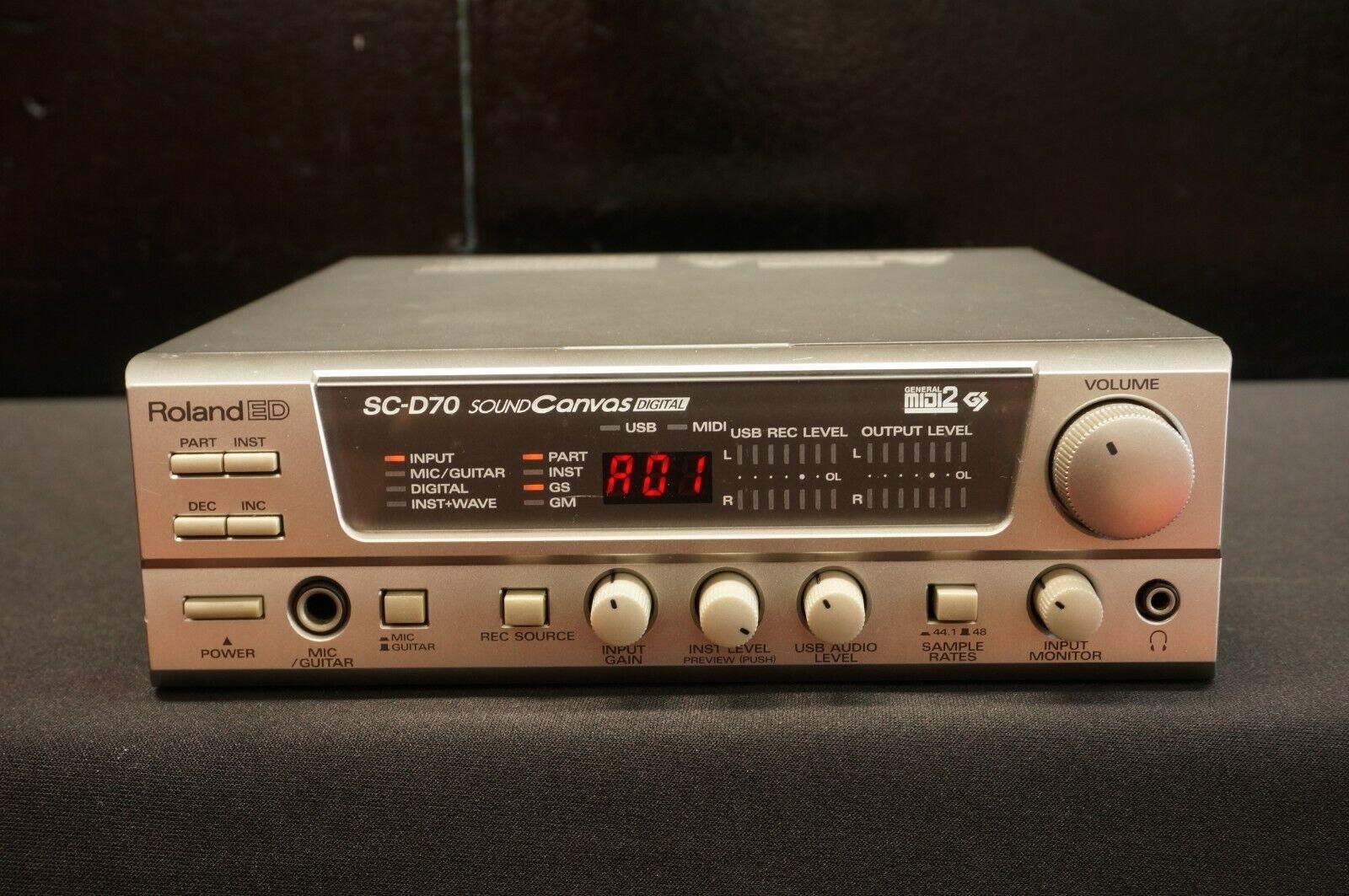 Roland ED SC-D70 Sound Canvas Polyphonic Digital Module MIDI USB - 100V