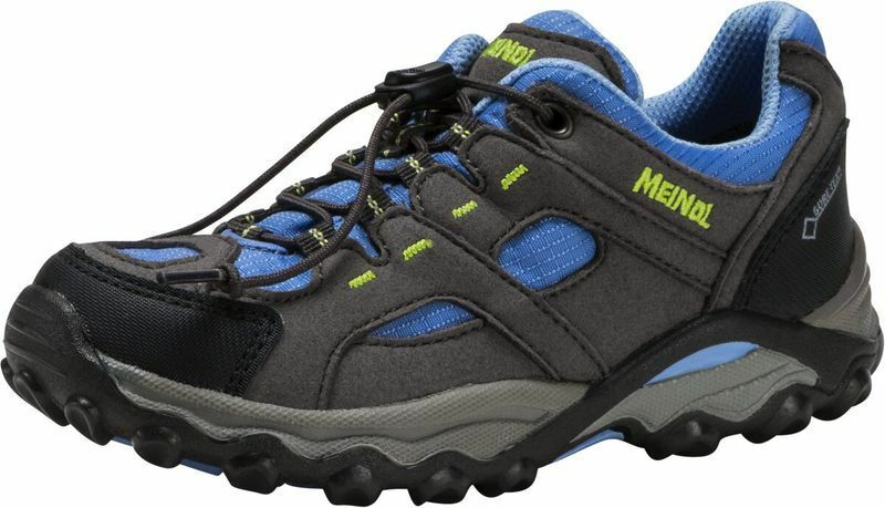 Meindl Kinder Wander Trekkingschuhe Lugo GTX® Anthrazit Blau Neu