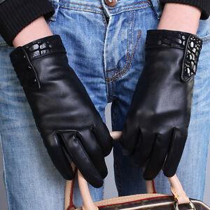 Womens Ladies Genuine Nappa Sheepskin Leather Gloves On Sale #L113