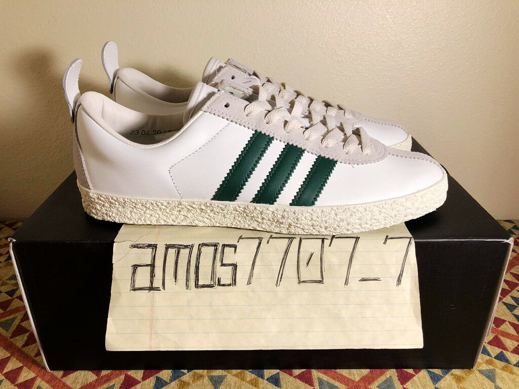 Adidas Originals Trainer SPZL Supcol Sail White Green Leather BA7877 Men Size 9