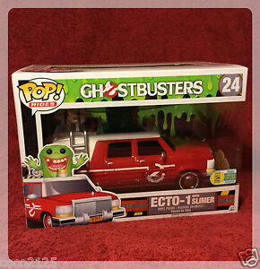 SDCC COMIC CON 2016 FUNKO POP! RIDES GHOSTBUSTERS RED ECTO-1 WITH SLIMER