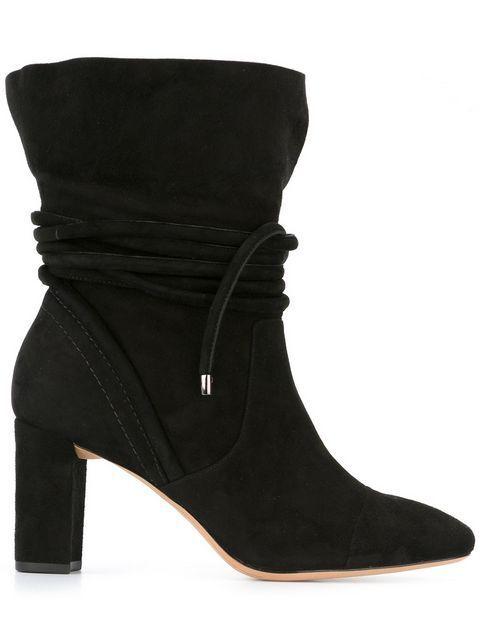 Alexandre Birman Betsy Suede Wraparound Wraparound Wraparound Tie Block Heel Stiefelies Retail  720 EU 38 3a9df5