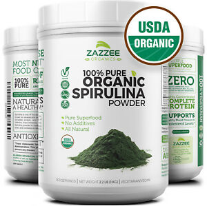 Organic-Spirulina-Powder-2-2-Pounds-1-KG-100-Pure-Non-GMO-USDA-Non-Irradiated