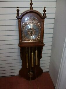 Vintage-Kyung-Shin-Wall-Mounted-Pendulum-Clock-With-Weights