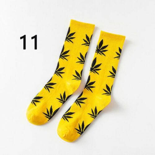 1 Pair Casual Long Cotton Socks Marijuana Leaf Maple Leaf Weed Sock Stocking Hot