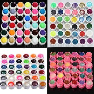 36-Colori-Gel-UV-Vari-Nail-Art-Colorati-Ricostruzione-Unghie-Manicure-Decora-Set
