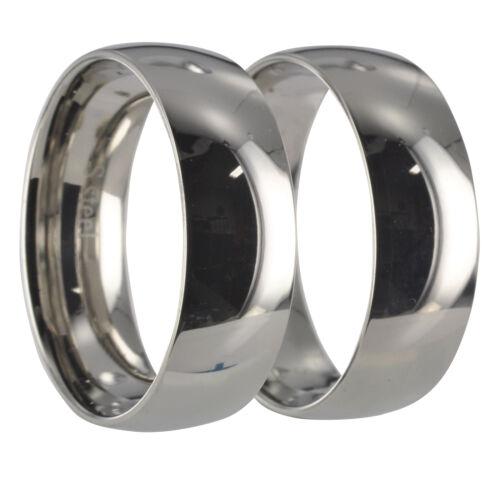 2 Ringe Edelstahl Eheringe Trauringe Gravur 20006