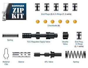 Details about 6T30 6T40 6T45 6T50 Gen 2 Transmission Zip Kit Valve Body  Rebuild Kit Sonnax