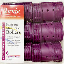 Item 1 Annie Snap On Magnetic Rollers 1219 6 Count Purple X Jumbo 3 4