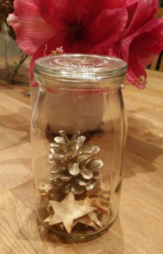1 bis 5 Industriegläsern groß alt Einweckglas 0,9 Liter Einmachglas 900 ml
