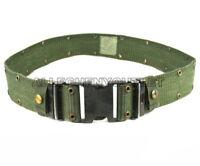 Individual Equipment Pistol Web Belt OD Green Black Buckle Large US Military VGC