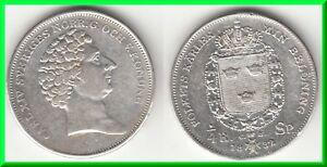 *** Suede - Sweden - 1/4 Riksdaler 1832 Carl Xiv - Argent - Silver ***