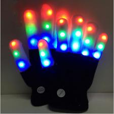 Fashion Cool Led Rave Flashing Led Gloves Glow 7 Mode Light Up Finger Lighting For Sale Online Ebay