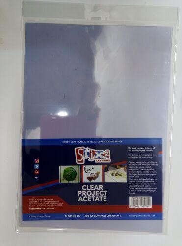 Stix2 5 x A4 Clear Project Acetate