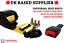 Universal Yellow 3 Point SeatBelt 3.5m Length /& 15cm Flat Plate Buckle End UK E4