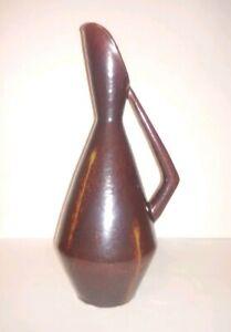 Rare Vintage Pottery Retro MCM PITCHER Ewer Carafe GEOMETRIC Vase VERY NICE LOOK
