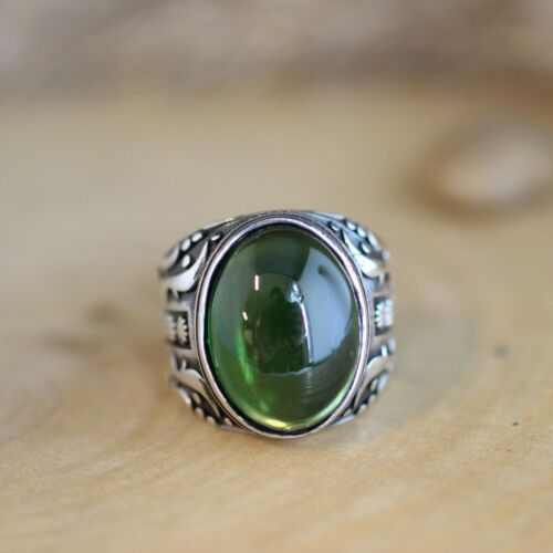 Details about  /Turkish Handmade Sterling Silver 925 Jewelry Emerald Mens Ring  7-13