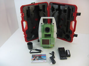 leica tc1202 2 total station only for surveying one month rh ebay com
