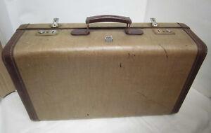 50er 60er Original Valise Mädler Coque Rigide Valise Voyage Valise Fichier Suitcase 50 S-fer Reisekoffer Suitcase 50safficher Le Titre D'origine